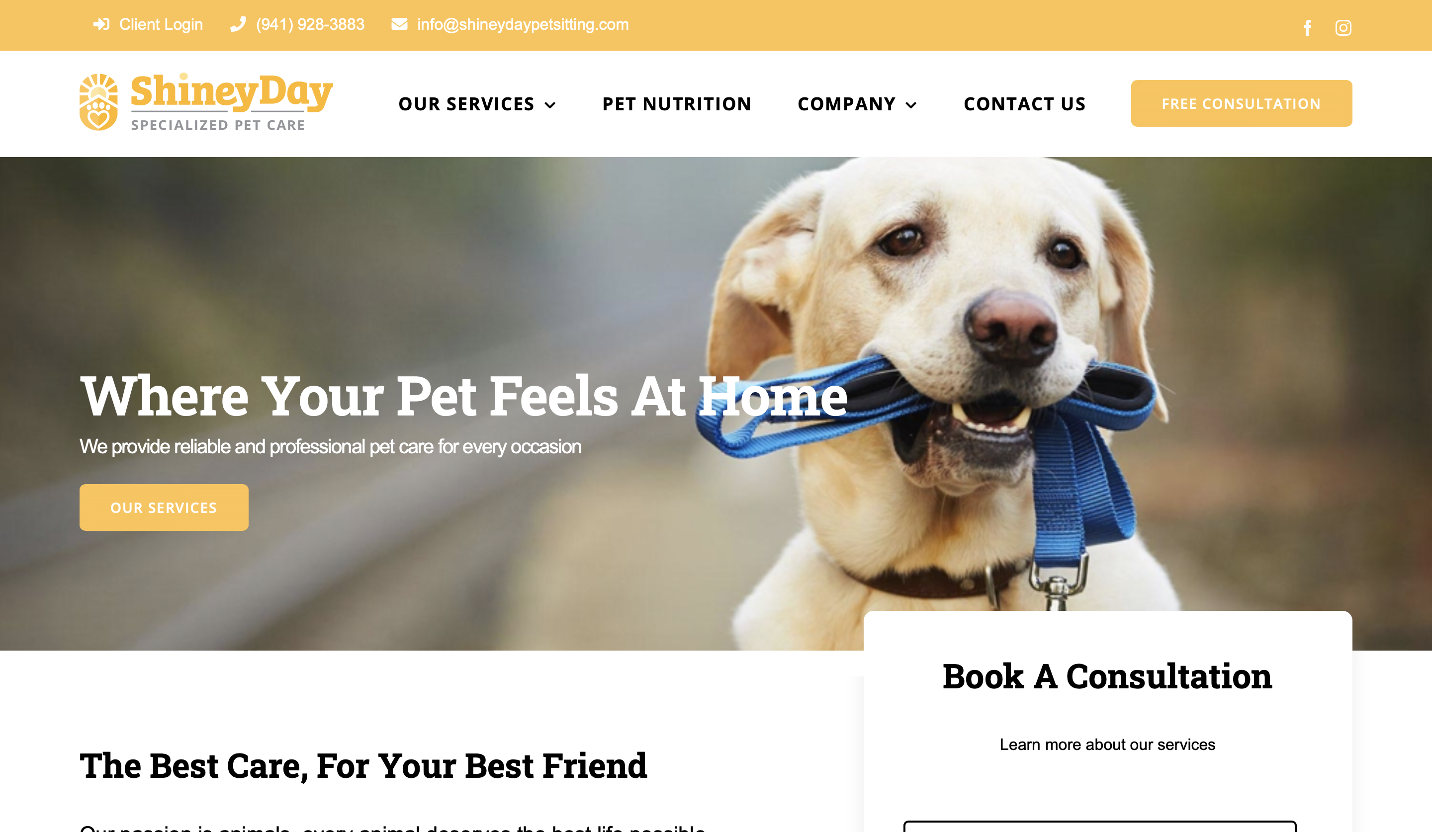 Shiney Day Specialized Pet Care